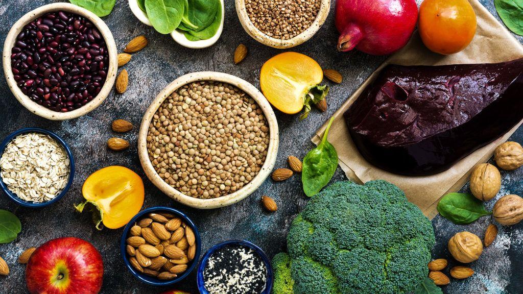 vasban gazdag ételek vegetáriánus étrend