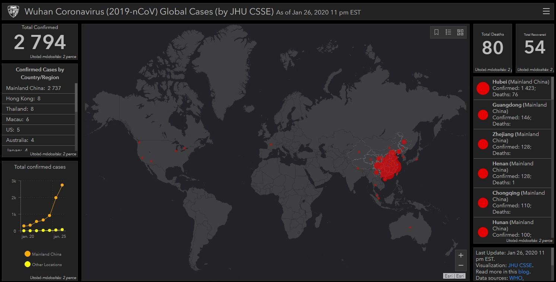 Igy Kovetheti Nyomon Hogy Terjed A Vilagban A Kinai Koronavirus