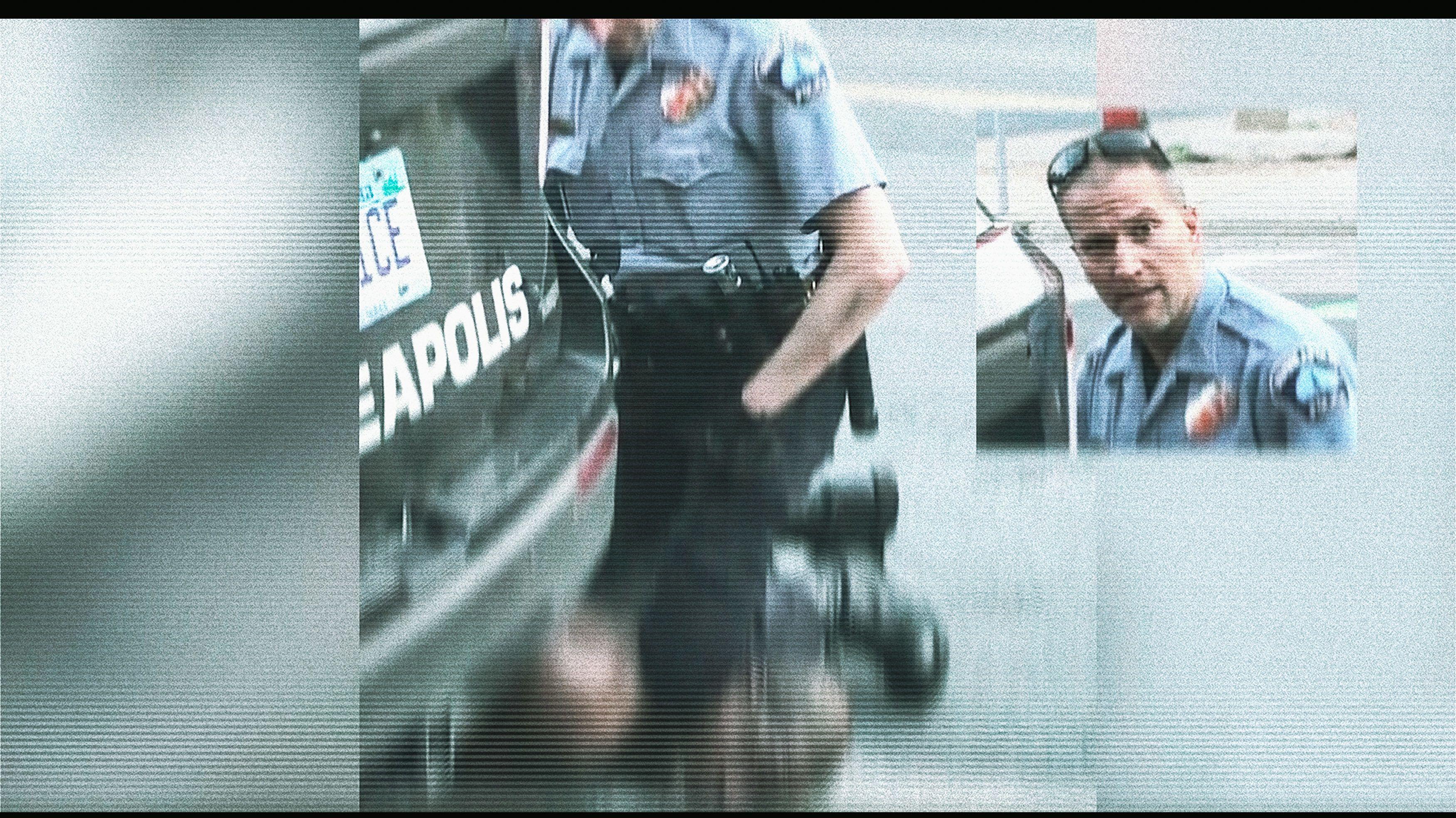 egyetlen rendőr külsejű férfi