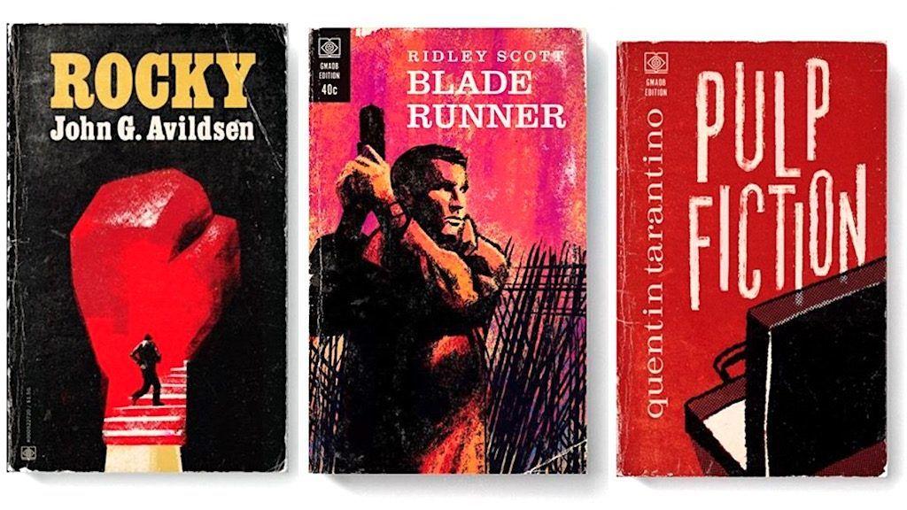Legendás filmeket változtat régi könyvborítókká egy amerikai művész