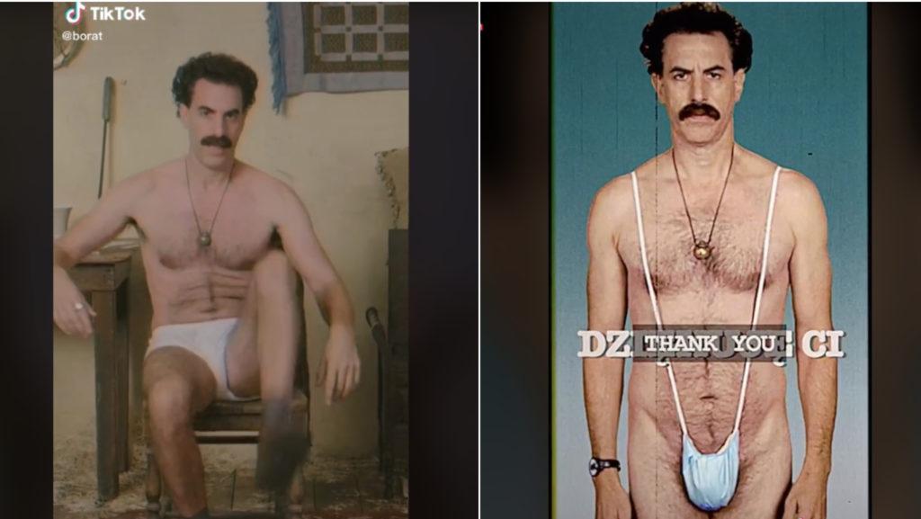 Borat csatlakozott a TikTokhoz két szürreális videóval