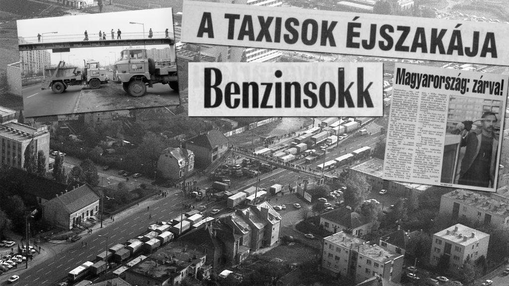 """""""Kiengedtük a forró gőzt, de sikert nem értünk el"""" – veterán taxisok a 30 évvel ezelőtti blokádról"""