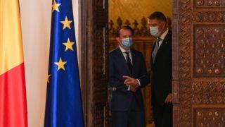 Florin Citu miniszterelnök és Klaus Iohannis államelnök.
