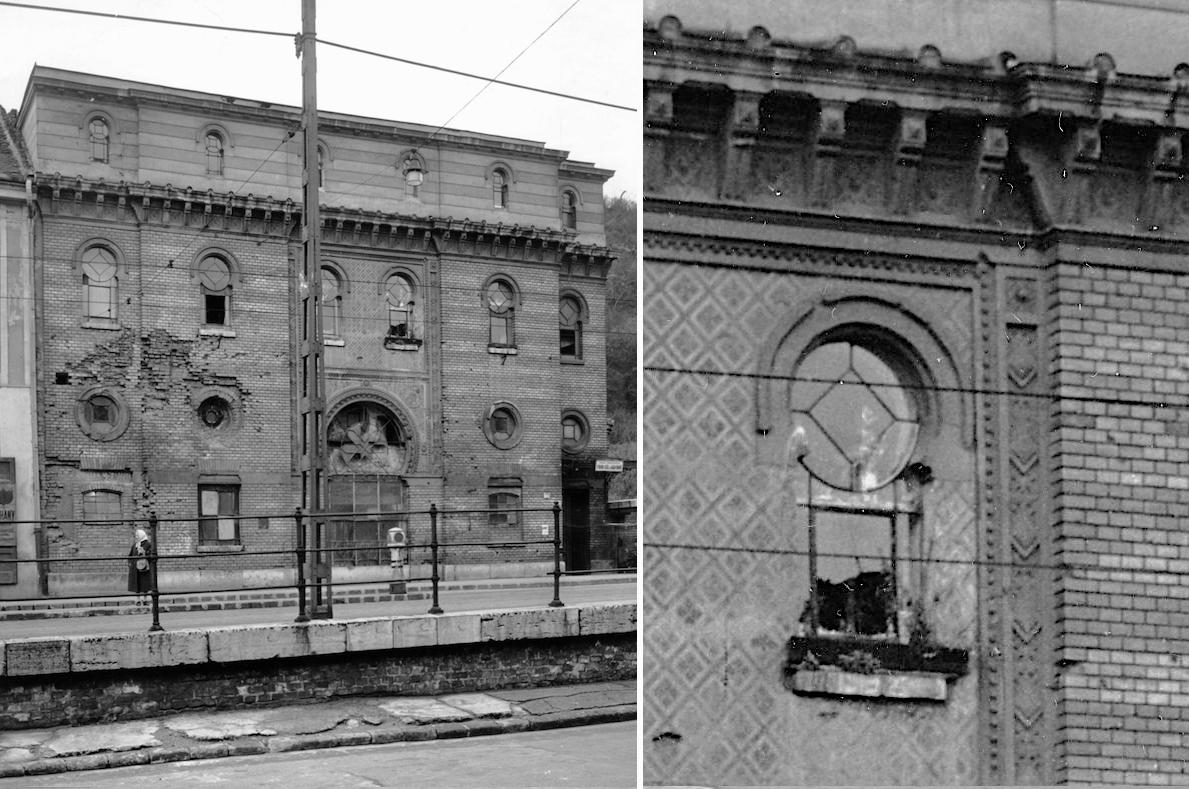 A fürdő kapuzatának hatvan évvel ezelőtti, 1961-es állapota.