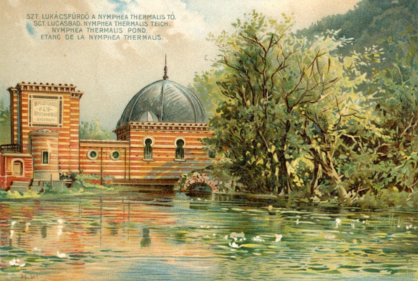 A Népgőzfürdő épülete egy századfordulós képeslapon