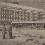 Az átadás előtt álló laboratóriumi épület fotója a Kisalföld 1961. november 2-i számában.