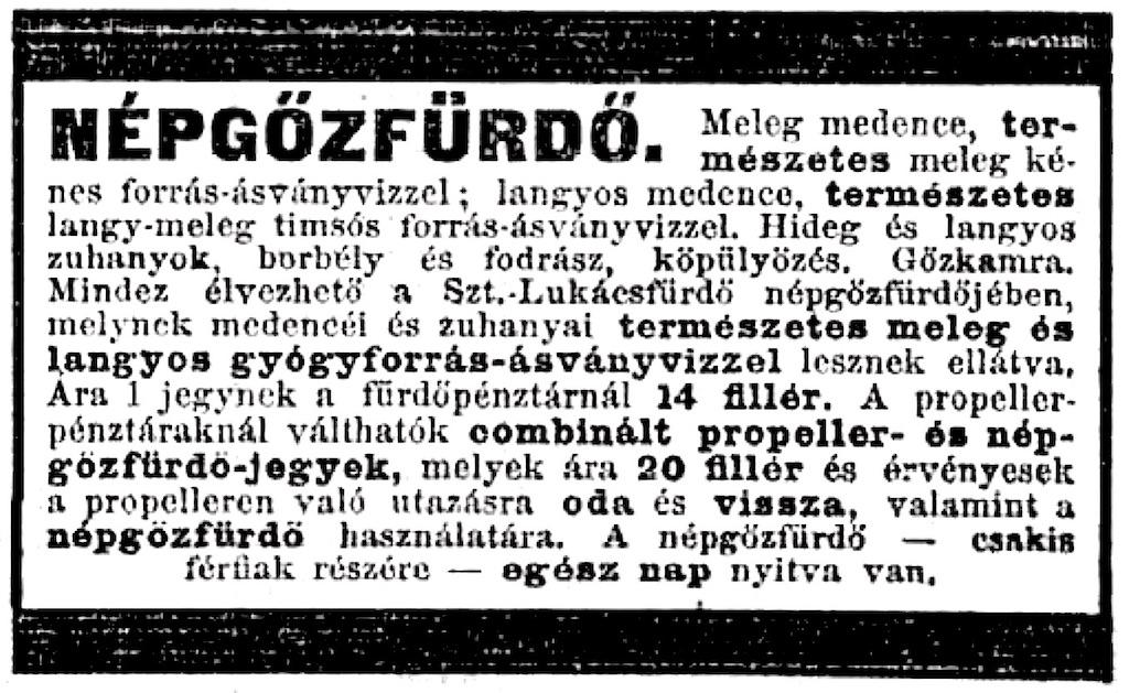 Reklám a Népszava 1905. május 20-i számában.