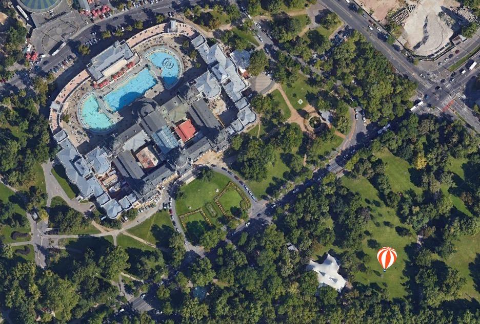 A ballon leendő helye a Google 2016-os műholdképén.