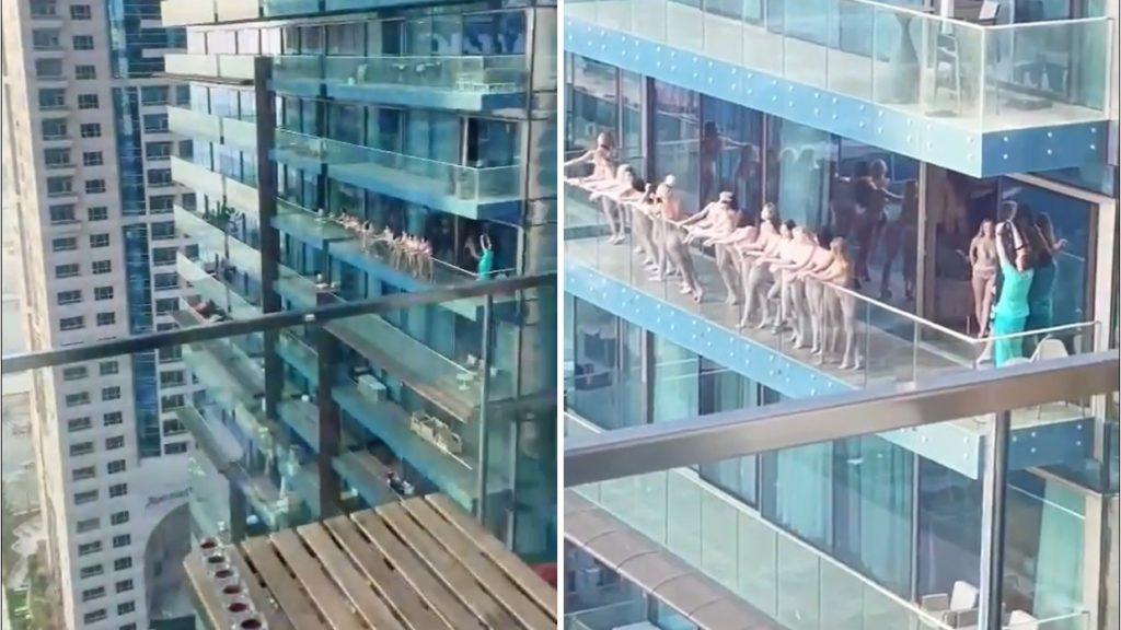 Meztelenül pózolt tucatnyi nő egy erkélyen Dubaiban, letartóztatták őket