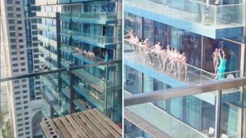 Megszólalt a férfi, aki a dubai erkélyen meztelenkedő 17 nő útját szervezte