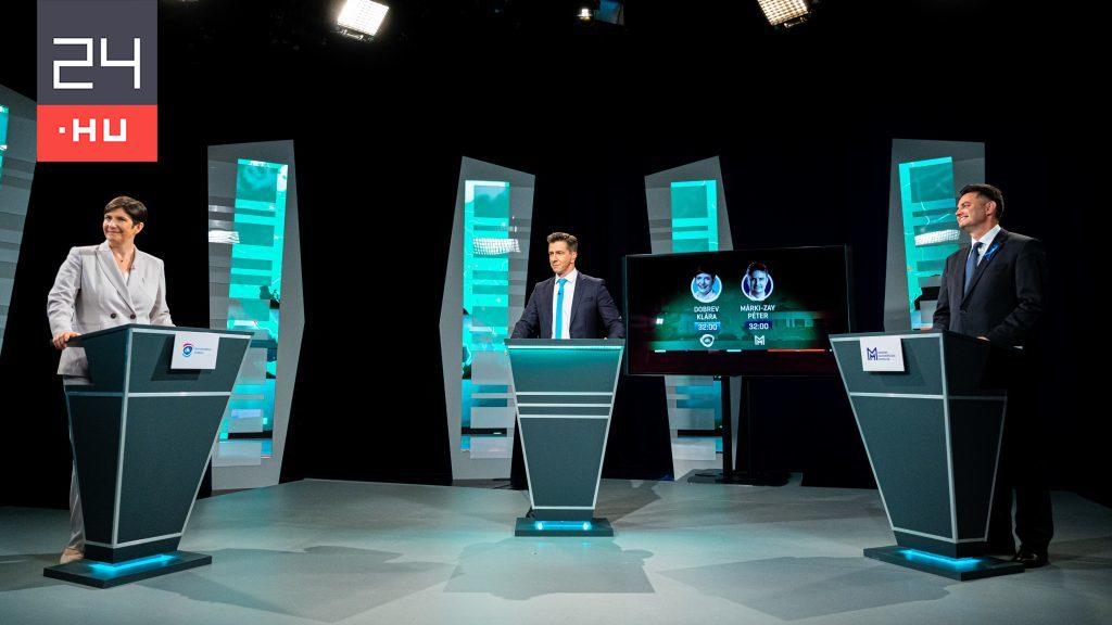 Závecz: Dobrev Klára (42%) nyerte a tévévitát