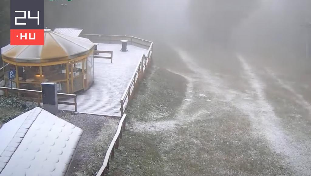 Vékony hó borította be Kékestetőt és Bánkútot