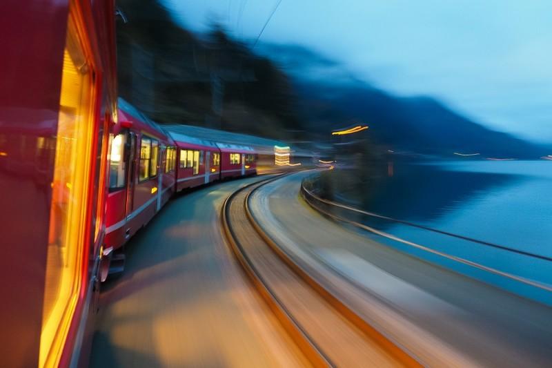 Train running fast