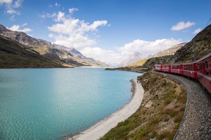 Italy - Switzerland - The Red Train Bernina Express