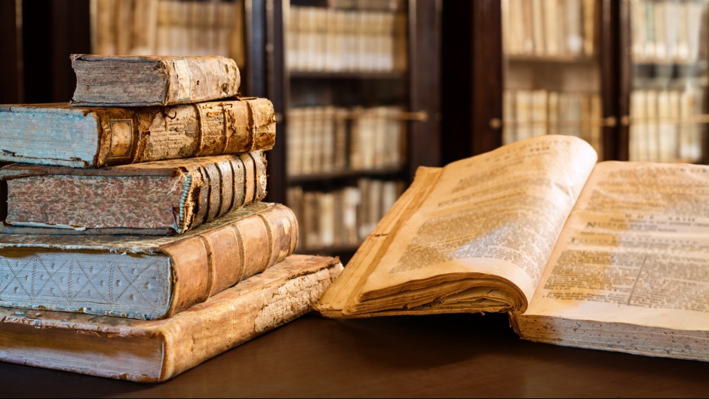 Ancients Books Of The 14th Century In Library