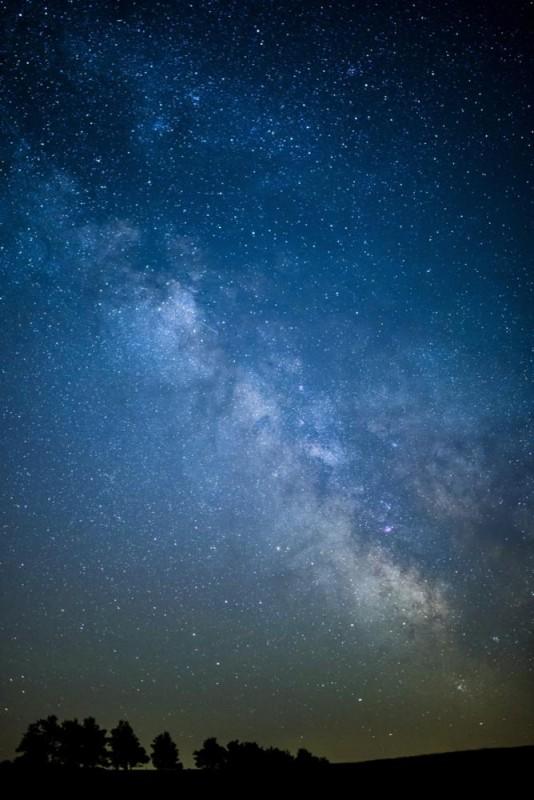 Gömöralmágy, 2016. június 30. A Tejút látható az éjszakai égbolton a felvidéki Gömöralmágy felõl fotózva 2016. június 29-én. MTI Fotó: Komka Péter