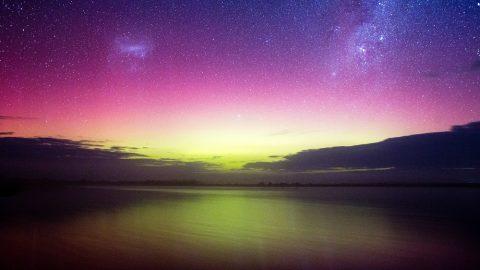 Aurora Australis. The southern lights, Victoria Australia