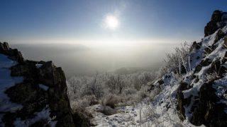 Salgótarján, 2017. január 28. Zúzmarás, havas táj Salgótarján közelében 2017. január 28-án. MTI Fotó: Komka Péter
