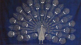 Nagynyárád, 2007. július 27. Egy kézimunka a háromnapos VIII. Országos Kékfestõ Fesztivál kiállításán. Az országban már csak négyen gyakorolják a mesterséget és közülük a legidõsebb a 87 éves helybéli Sárdi János. MTI Fotó: Kálmándy Ferenc