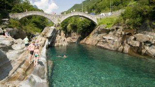 Ponte dei Salti, Lavertezzo; Verzasca River