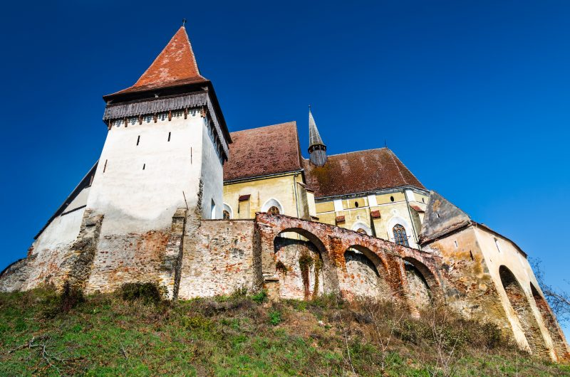 Biertan is fortified church with three protecting walls, one of most important Saxon villagesin Transylvania. Romania.