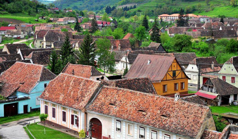 Old houses of Biertan transylvanian town, Romania