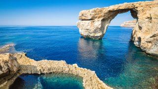The world famous Azure Window in Gozo island - Mediterranean nature wonder in the beautiful Malta