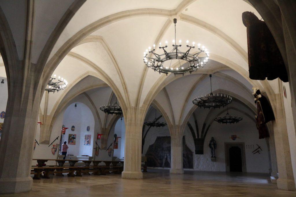 Miskolc, 2017. szeptember 3. A diósgyõri vár gótikus lovagterme Miskolcon 2017. szeptember 3-án. Hamarosan megkezdõdik a vár rekonstrukciójának második és harmadik üteme. MTI Fotó: Vajda János