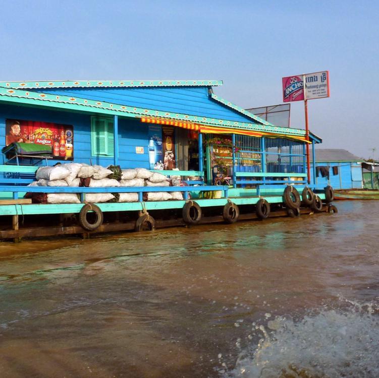 Canal to Tonle Sap Lake,  Siem Reap, Cambodia
