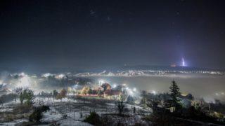 Pécs, 2018. február 5. Köd Pécs felett a Makár városrész felõl fotózva 2018. február 5-én. MTI Fotó: Sóki Tamás