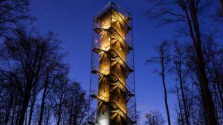 Galyatetõ, 2016. április 14. A Galya-kilátó Galyatetõn 2016. április 13-án. A kilátó az amerikai Architizer online építészmagazin nemzetközi építészeti versenyén az építészet és felújítás kategóriában közönségdíjat nyert. A verseny jelöltjeire mintegy száz országból négyszázezernél is több szavazat érkezett. MTI Fotó: Komka Péter
