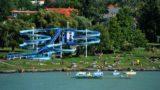 Fonyód, 2009. július 15. Csúzda a fonyódi strandon. MTI Fotó: H. Szabó Sándor