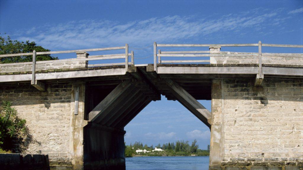 The smallest drawbridge in the world, Somerset, Bermuda, Atlantic Ocean, Central America