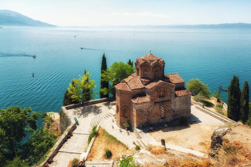 St. Jovan Kaneo church overlooking Ohrid lake, Macedonia