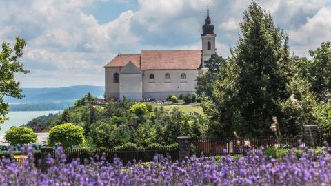Tihany, 2016. június 20. Virágzó levendulák a tihanyi bencés apátság épülete elõtt. Az apátságot a Tihanyi-félsziget hegyláncának kelet felé meredeken leszakadó szélén alapította I. András király 1055-ben Szent Ányos és Szûz Mária tiszteletére. Mai formáját az 1719-ben Wittwer Márton karmelita építész tervei szerint megkezdõdõ újjáépítés alatt nyerte el. A kéttornyú barokk templom 1754-re készült el. MTVA/Bizományosi: Faludi Imre  *************************** Kedves Felhasználó! Ez a fotó nem a Duna Médiaszolgáltató Zrt./MTI által készített és kiadott fényképfelvétel, így harmadik személy által támasztott bárminemû – különösen szerzõi jogi, szomszédos jogi és személyiségi jogi – igényért a fotó készítõje közvetlenül maga áll helyt, az MTVA felelõssége e körben kizárt.