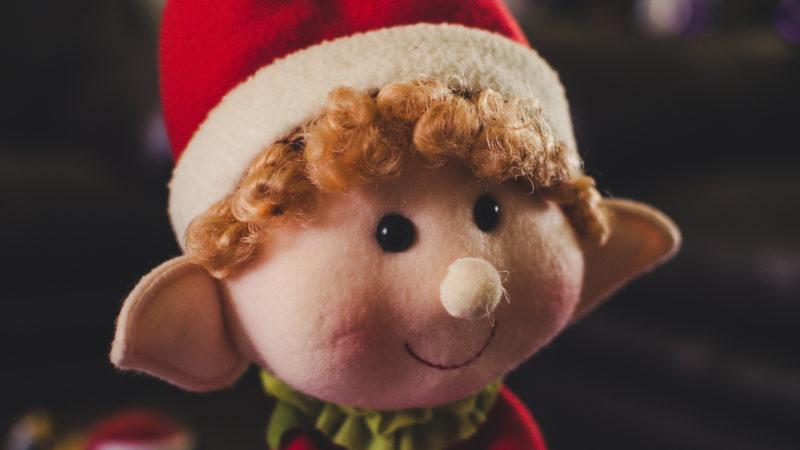 Goblin in Christmas attire