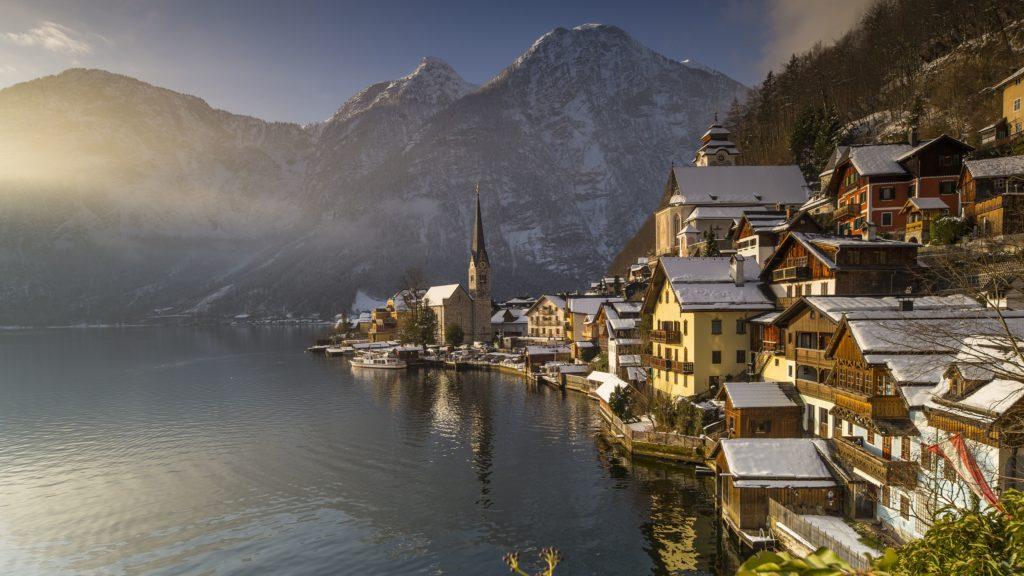 Austria, Upper Austria, Salzkammergut Region, listed as World Heritage by UNESCO, Hallstatt City