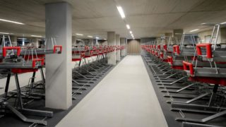 A picture taken on August 19, 2019 shows the stationpleinstalling, the largest bicycle parking facility in the world, with 12,500 parking places available in the garage, in Utrecht. (Photo by Robin van Lonkhuijsen / ANP / AFP) / Netherlands OUT