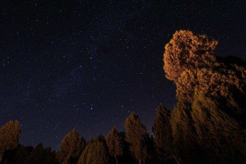 KUTAHYA, TURKEY - AUGUST 13: A Perseid meteor streaks across the sky over Domanic district of Kutahya in Turkey on August 13, 2019. Serdar Yigit / Anadolu Agency
