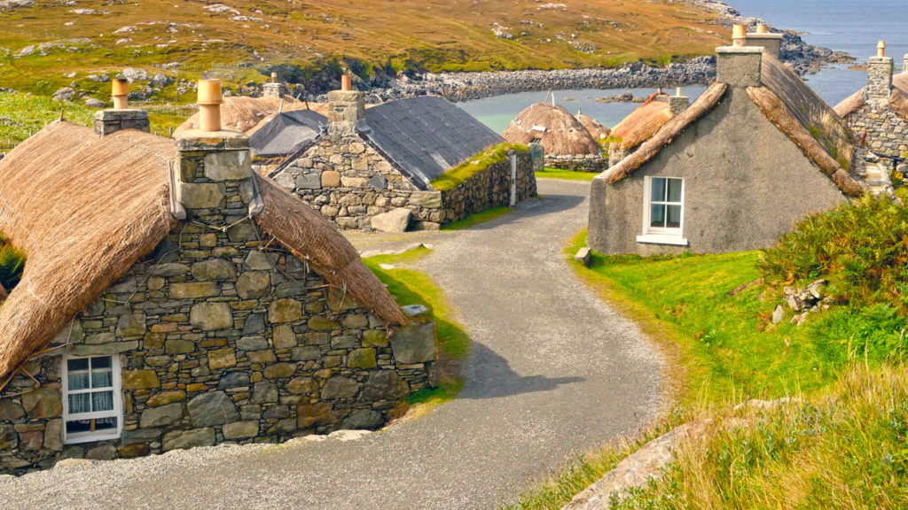Gearrannan Blackhouse Village, Isle of Lewis, Scotland, UK