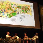 Alice Waters prezentációja a The Edible Schoolyard iskolakert programról. Fotó: Kardamom