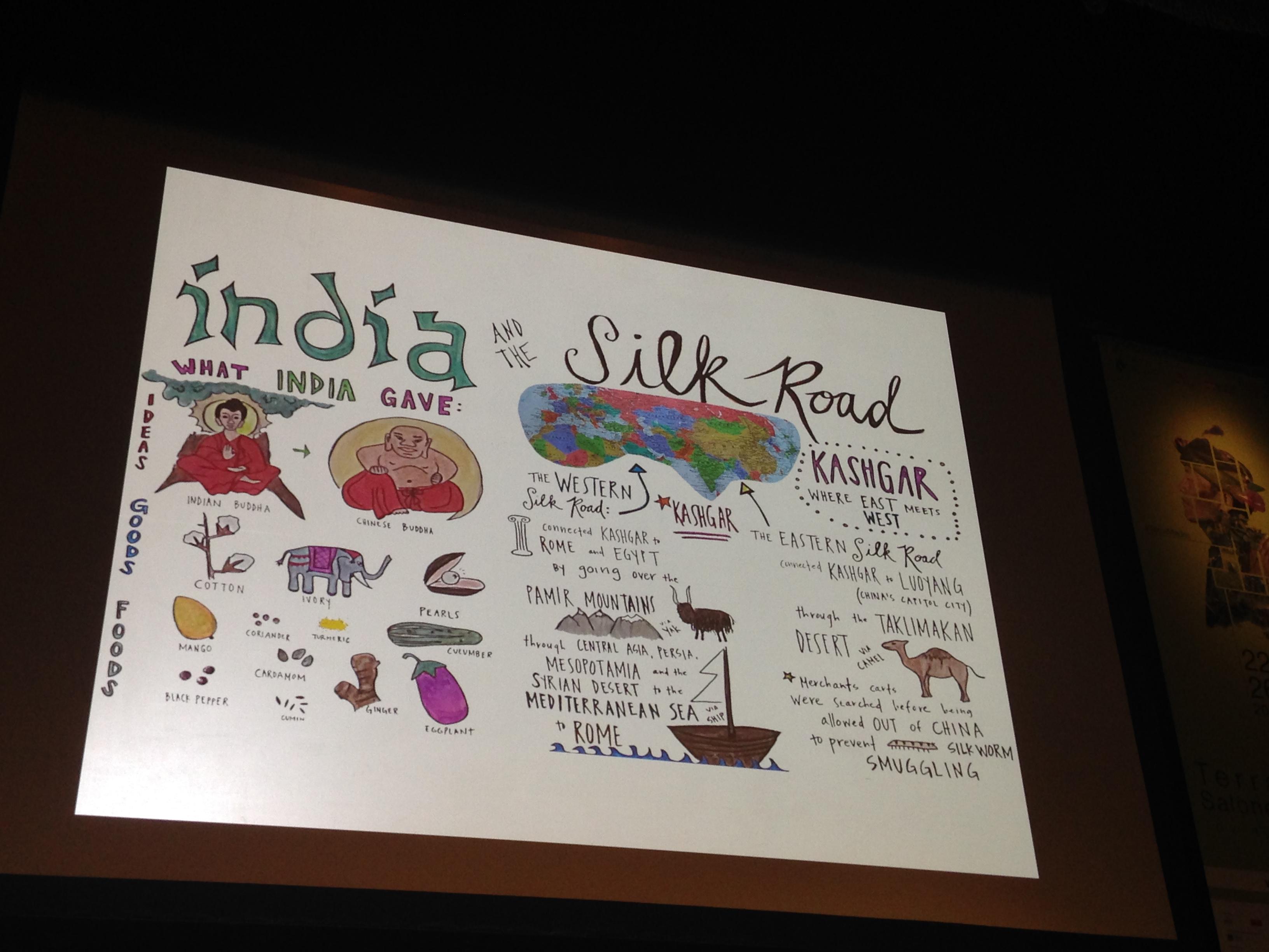 """""""The Edible Schoolyard Project"""" oktatótábla."""