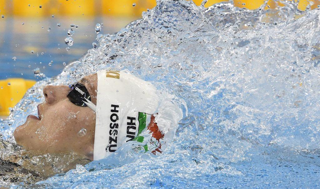 Rio de Janeiro, 2016. augusztus 7.  Hosszú Katinka a 2016-os riói nyári olimpia 400 méteres vegyesúszás versenyszámának döntõjében a Rio de Janeiró-i Olimpiai Uszodában 2016. augusztus 6-án. Hosszú Katinka világcsúccsal gyõzött és olimpiai bajnok lett. MTI Fotó: Kovács Tamás