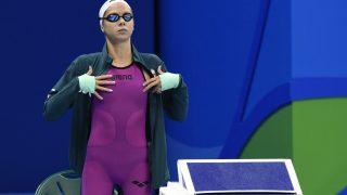 Rio de Janeiro, 2016. augusztus 8. Kapás Boglárka a 2016-os riói nyári olimpia 400 méteres gyorsúszás versenyszámának döntõjének rajtja elõtt a Rio de Janeiró-i Olimpiai Uszodában 2016. augusztus 7-én. Kapás Boglárka a negyedik helyen végzett. MTI Fotó: Kovács Tamás