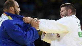 Rio de Janeiro, 2016. augusztus 12. Bor Barna (j) küzd a tunéziai Dzsaballáh Faiszel ellen a férfi cselgáncsozók +100 kilogrammos súlycsoportjában, az elsõ fordulóban a riói nyári olimpián a Rio de Janeiró-i 2-es Karióka Arénában 2016. augusztus 12-én. Bor Barna gyõzött és bejutott a nyolcaddöntõbe. MTI Fotó: Kovács Tamás