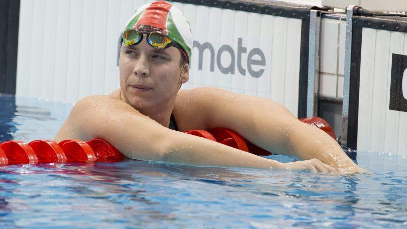 London, 2016. május 18. Risztov Éva a célban a 800 méteres gyorsúszás elõfutamában az úszó, mûugró és szinkronúszó Európa-bajnokságon a London Aquatics Centerben 2016. május 18-án. MTI Fotó: Kovács Anikó