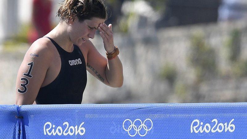 Rio de Janeiro, 2016. augusztus 15. A 14. helyen végzett Risztov Éva a Rio de Janeiró-i nyári olimpia nõi 10 kilométeres nyíltvízi úszóversenye után a Copacabana Erõdnél 2016. augusztus 15-én. MTI Fotó: Czeglédi Zsolt