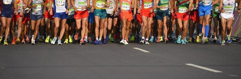 Rio de Janeiro, 2016. augusztus 19. A riói nyári olimpia férfi 50 kilométeres gyaloglás versenyszáma rajtol Rio de Janeiróban 2016. augusztus 19-én. MTI Fotó: Czeglédi Zsolt