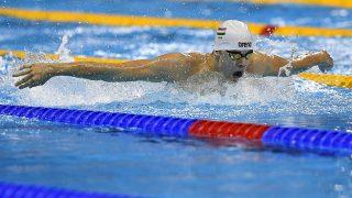 Rio de Janeiro, 2016. augusztus 8.Kenderesi Tamás a riói nyári olimpia férfi 200 méteres pillangóúszás versenyszámának előfutamában a Rio de Janeiró-i Olimpiai Uszodában 2016. augusztus 8-án. Kenderesi Tamás továbbjutott az elődöntőbe.MTI Fotó: Czeglédi Zsolt