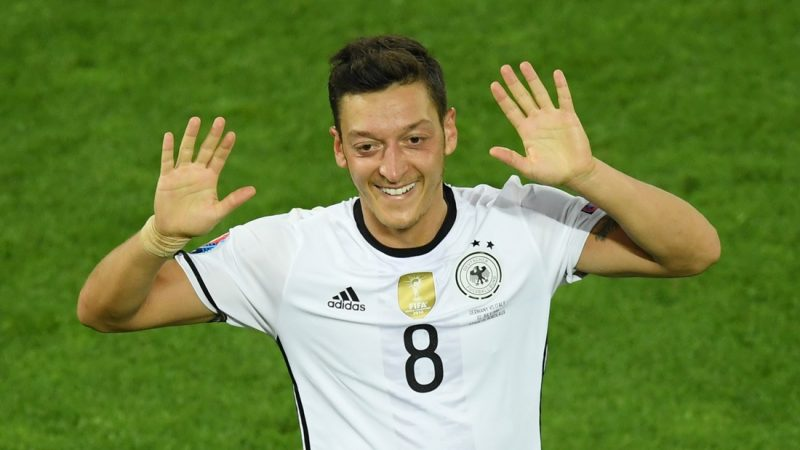 BORDEAUX, FRANCE - JULY 2: Mesut Ozil of Germany celebrates after scoring a goal during the UEFA Euro 2016 quarter final match between Germany and Italy at Stade de Bordeaux in Bordeaux, France on July 2, 2016.  Mustafa Yalcin / Anadolu Agency